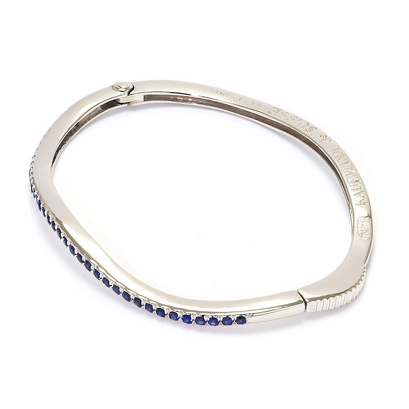 wave sapphire bracelet   54mm kaufmann de suisse